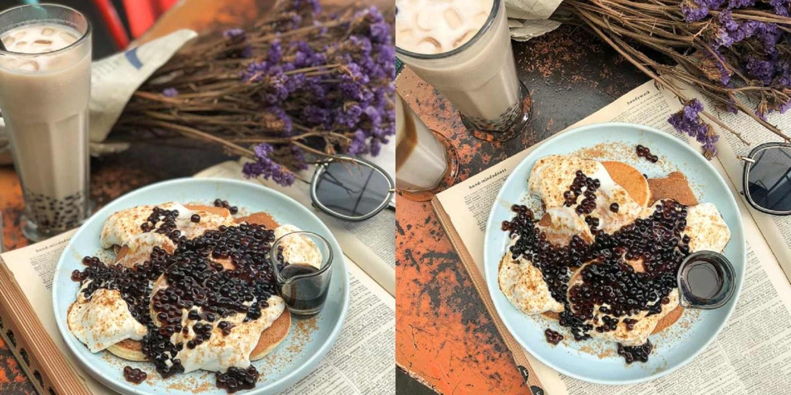 台南美食早午餐 可愛ㄉㄨㄞㄉㄨㄞ黑糖小珍珠鬆餅香~ Q彈彈加上黑糖味。「ICI CAFE」台南甜點|台南下午茶|