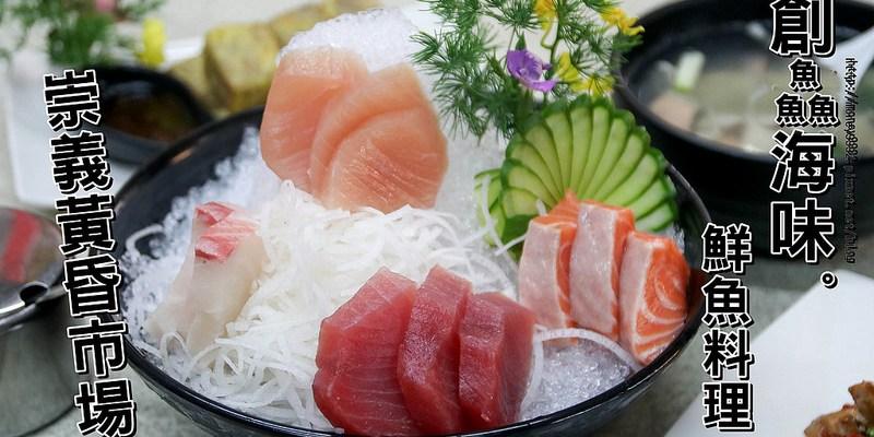 台南東區 「創鱻海味鮮魚料理」隱藏崇義市場的海味生魚片!!魚肉炒飯+滿滿魚湯組合優惠價$100,消費套餐打卡分享!再送炒青菜一份!|黃昏市場|台南市立醫院|