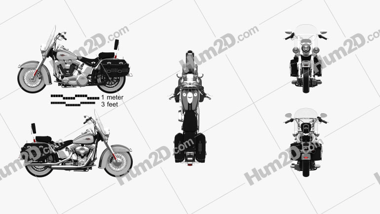 Harley-Davidson Heritage Softail Classic 2012 Clipart