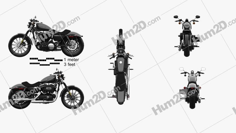 Harley-Davidson Sportster XL 883N Iron 883 2009 Clipart