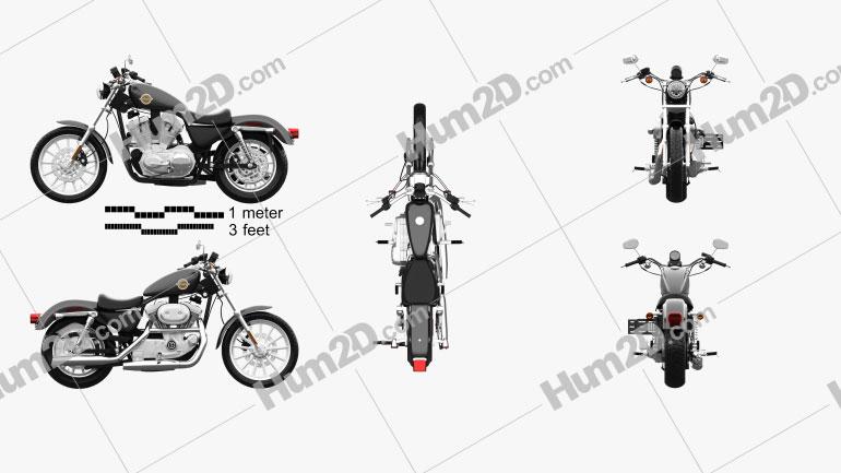 Harley-Davidson Sportster Clipart and Blueprints for Download