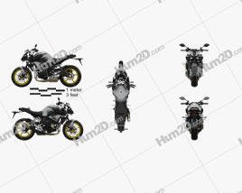 Superbike Clipart and Blueprints for Download