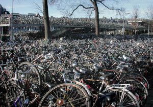 Bike parking, Amsterdam train station