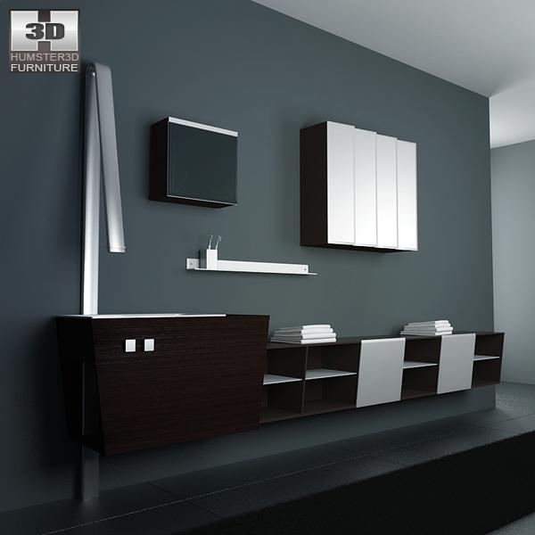 Bathroom Furniture 05 Set 3D model  Furniture on Hum3D