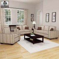 Living Room Furniture 07 Set 3D model - Hum3D