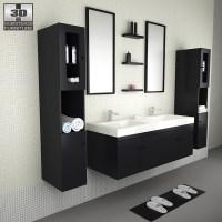 Bathroom Furniture 08 Set 3D model - Hum3D