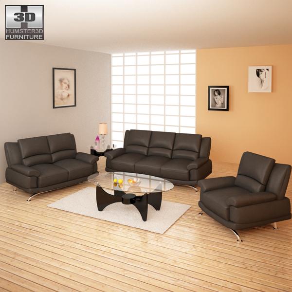 Living Room Furniture 09 Set 3d Model Furniture On Hum3d