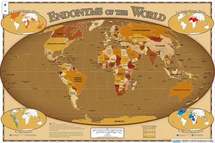 Названия стран мира на родном языке их жителей