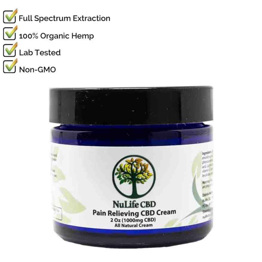 NuLife CBD Salve Cream 500mg