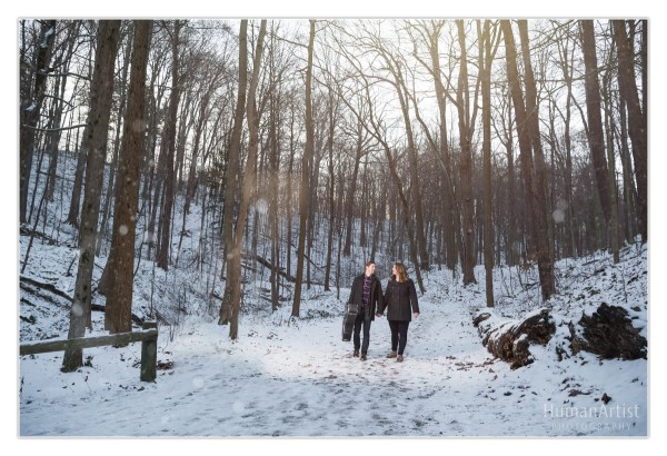 Squire Castle Winter Engagement Session In Cleveland Eric & Taylor Human Artist