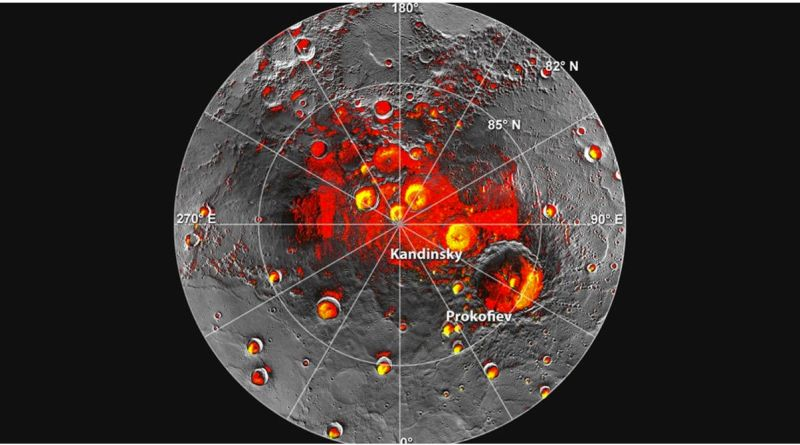 mercury ice water deposits