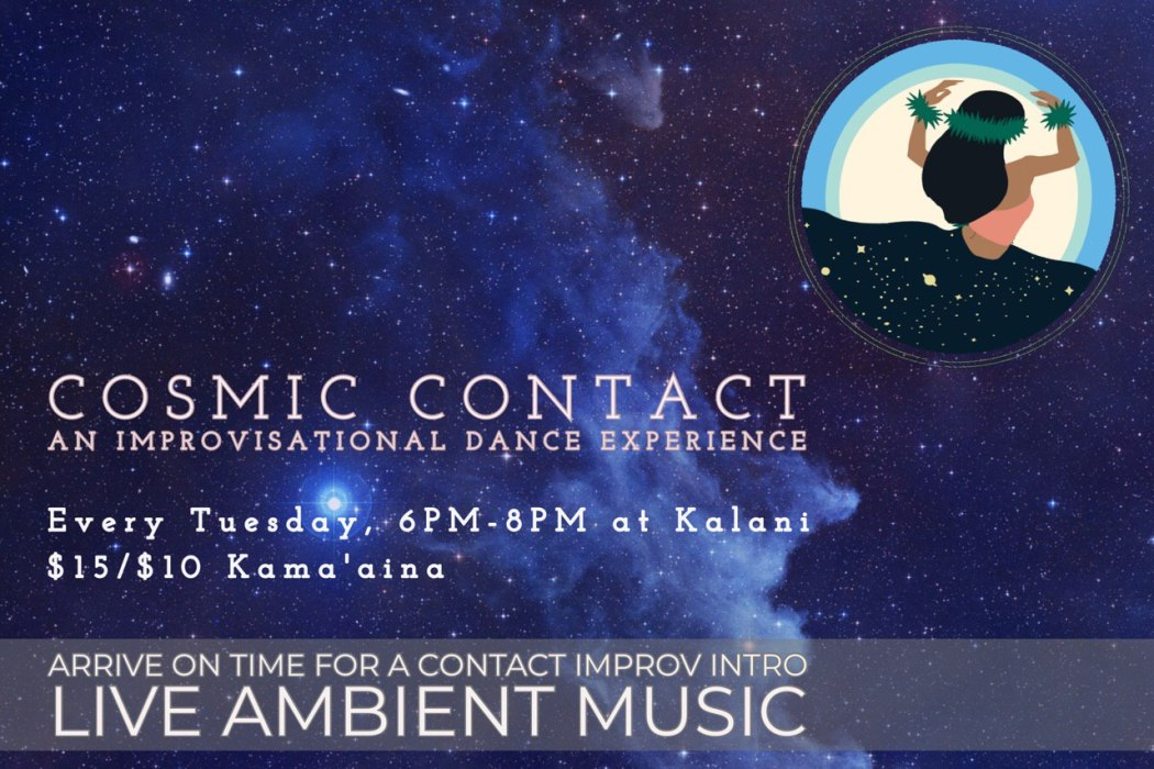 Contact Improv Every Tuesday from 6pm-8pm at Kalani on Big Island Hawaii