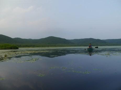 Canoeing at Lake Takkobu