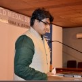 Ar. Mohin Merchant, i/C Principal, Rizvi College of Architecture welcoming the guests at the special function.