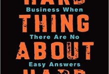 Photo of The Hard Thing about Hard Thing: Building a Business When There are No Easy Answers