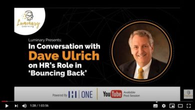 Photo of Dave Ulrich on HR's Role in Bouncing Back