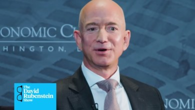 Photo of Amazon CEO Jeff Bezos on The David Rubenstein Show