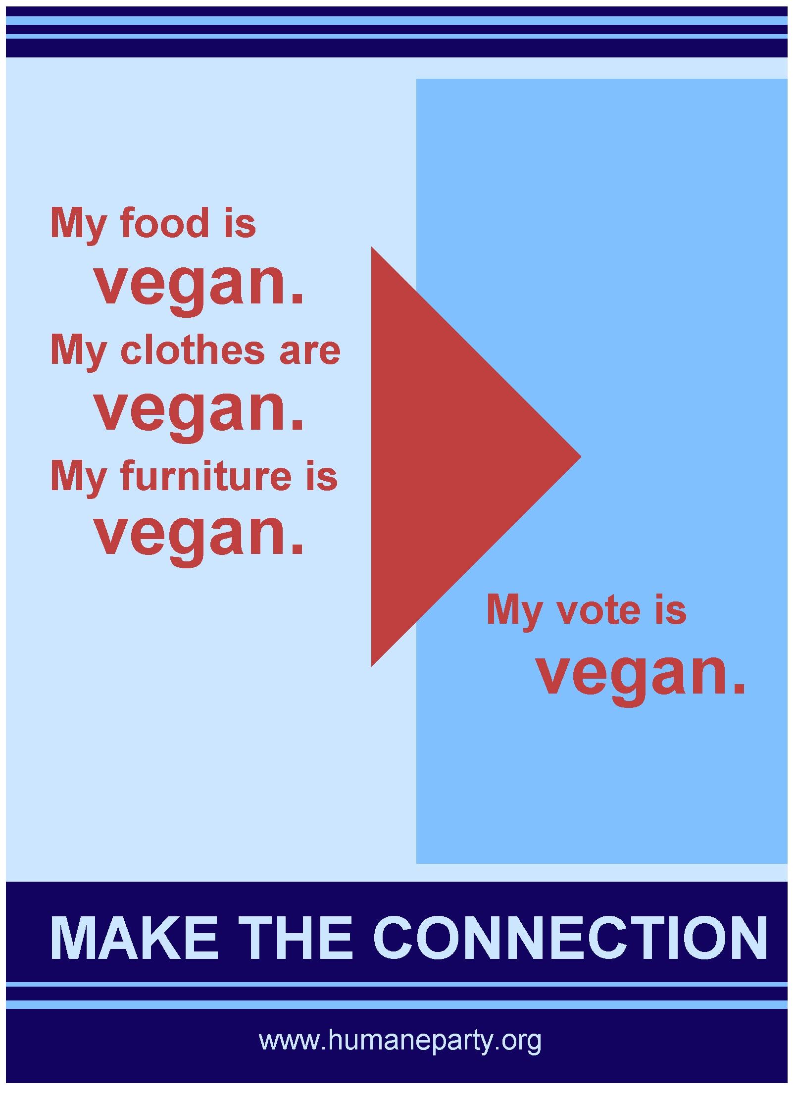 My Vote Is Vegan