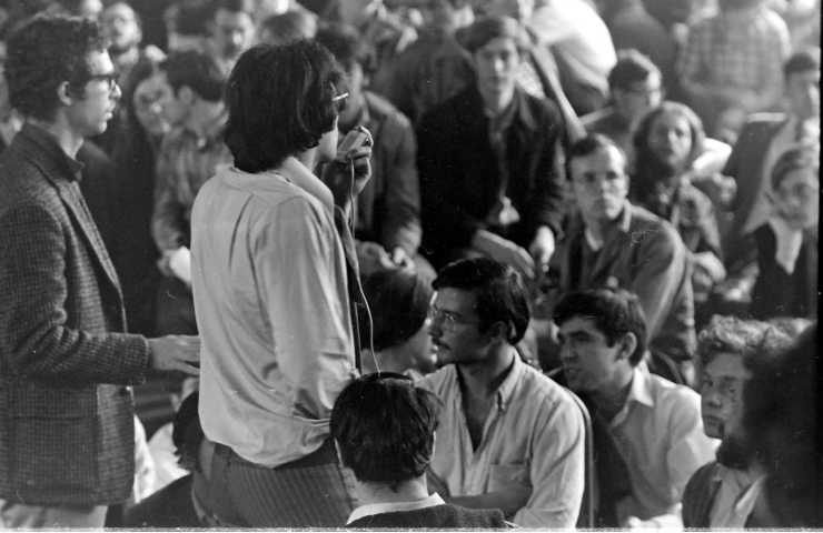 Harvard, 1969. Students standing up and taking action