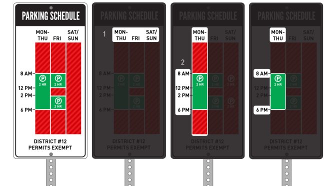 Parking sign re-design