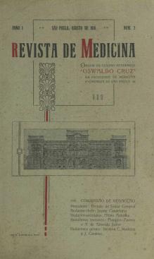 Revista de Medicina, 1916, Volume 1, numero 2. Capa. Disponivel em http://www.revistas.usp.br/revistadc/issue/view/5028