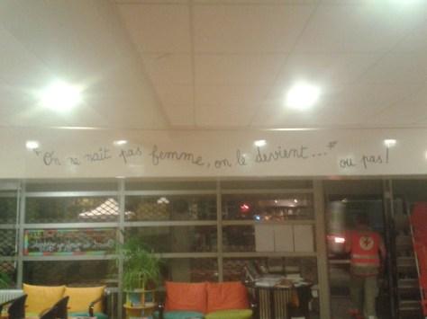 Poste CRF, locaux prêtés par la Fondation Simone De Beauvoir !