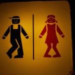 photo Écriteau des toilettes à Lisbonne !