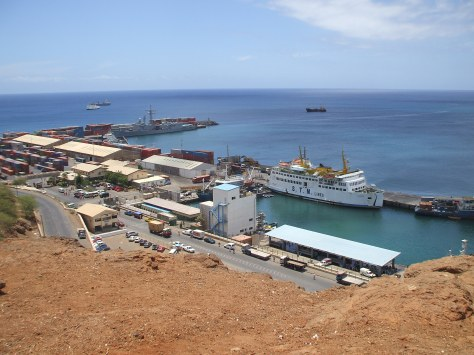 photo du port de Praia