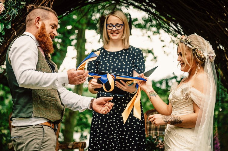 Tying the knot at a humanist wedding