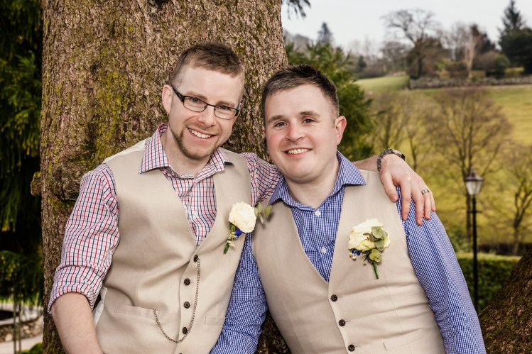 Same-sex humanist wedding