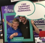 Humanists UK Chief Executive Andrew Copson and Shadow Foreign Secretary Emily Thornberry MP at the Labour Party Conference