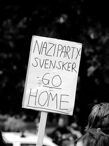 15. august 2014 talte Sverigedemokraternas leder Jimmie Åkesson i Oslo. Foto: Arnfinn Pettersen.