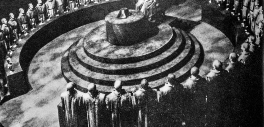 Et møte i Illuminati? Konspirasjonsteoretikere ser gjerne for seg at en hemmelig, allmektig gruppe styrer verden.