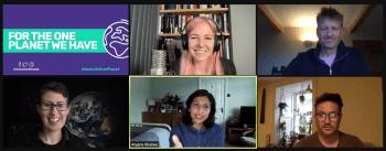 Professor Alice Roberts, Mark Lynas, Profesor Ben Garrod, Dr Anjana Khatwa, and Professor Sarah Bridle speak at Humanist Climate Action launch