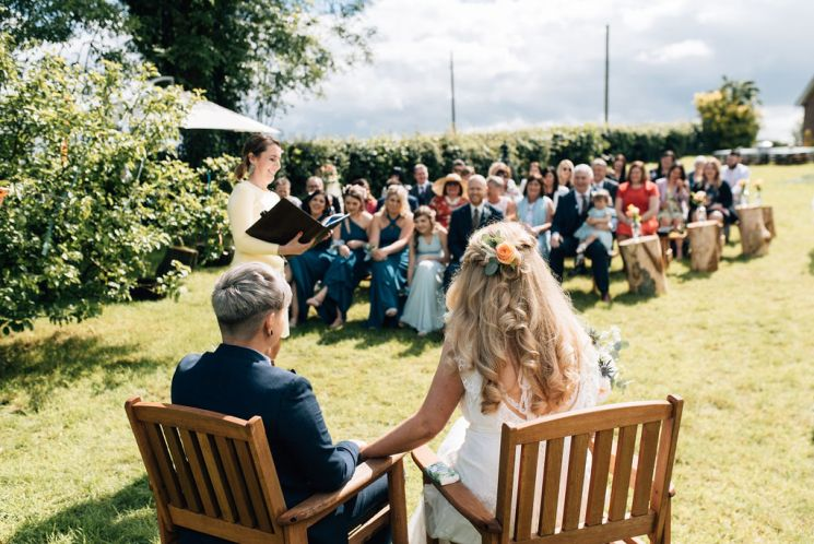 Laura and Erica's humanist wedding by Simon Hutchinson