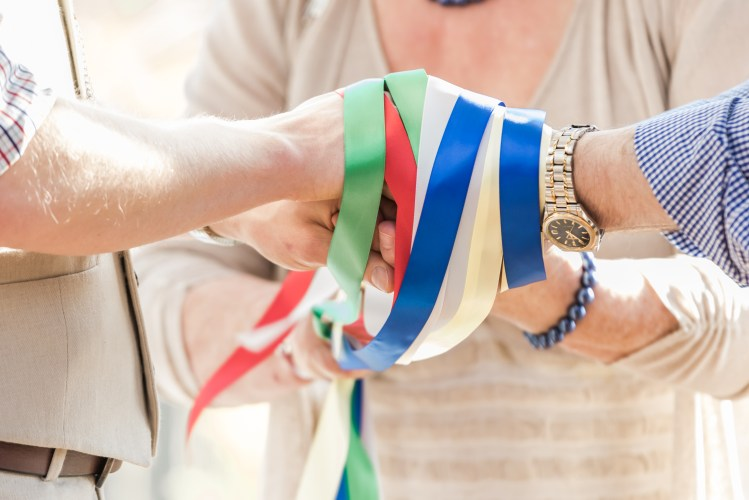 Handfasting at a humanist ceremony