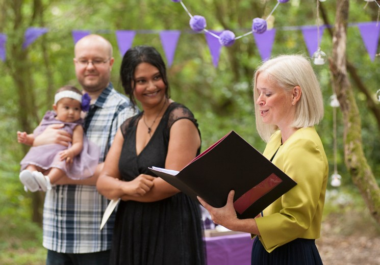 Humanist naming ceremony