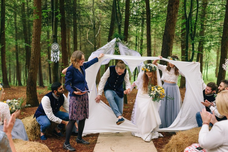 Cut-out heart race - wedding tradition