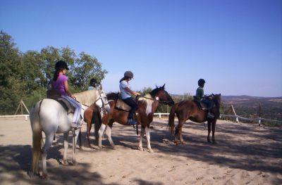 Horse riding... Tenemos una pista de equitación dentro de la finca