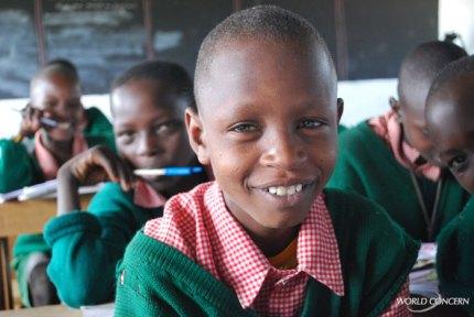 Humanitarian organization World Concern provides tuition for children in Kenya.