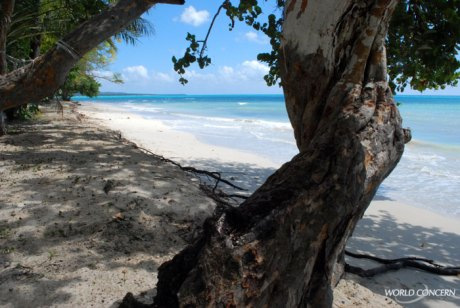 Does this look like Haiti? It is a beautiful beach, near Les Cayes, on the southern coast.