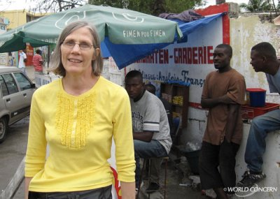 World Concern's Susan Talbot recently traveled to Haiti to help bring in donated items for families suffering after the earthquake.