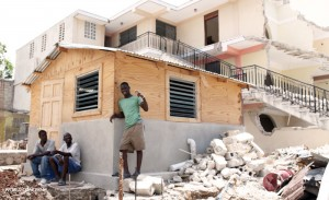 Homes are being built amidst destruction in Port-au-Prince