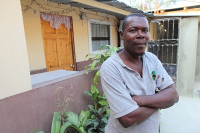 Widzer was homeless after the earthquake, but worked and took full advantage of assistance provided. He sees a future beyond the quake.