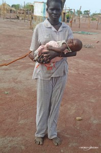 Arual and her baby.