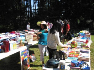 A church yard sale helps famine victims