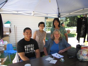 Volunteers organized the yard sale