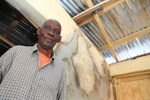 Inside a repaired home in Port-au-Prince, Haiti
