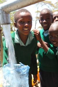 School kids in Naroomoru, Kenya are healthier and doing better in school because of clean water.