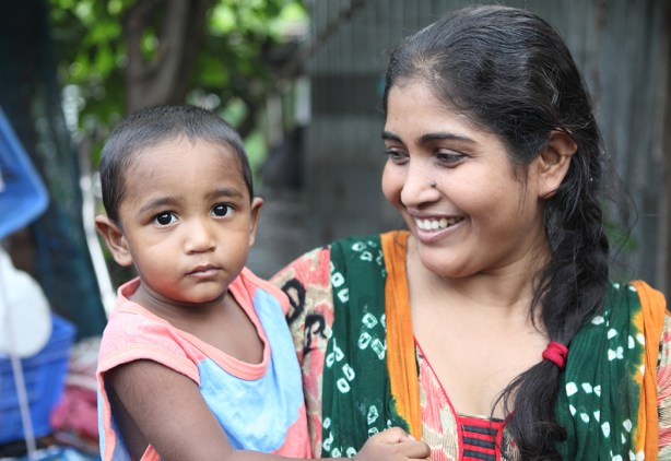 Bangladesh mom and baby